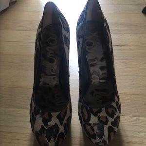 Sam Edelman calfskin leopard heels